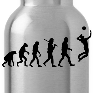 evolution of volleyball T-Shirts - Trinkflasche