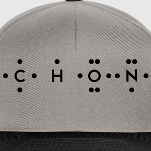 Ingredients of Life - CHON (Monochrome) T-Shirts - Snapback Cap
