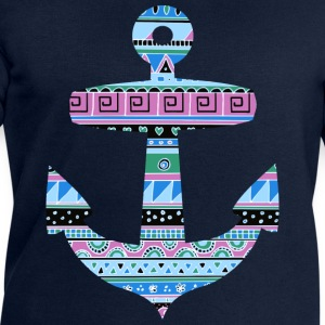 Anchor with Blue Tribal Pattern T-Shirts - Men's Sweatshirt by Stanley & Stella