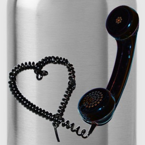 Heart retro telefon T-Shirts - Water Bottle