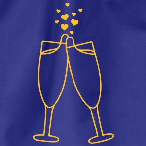 champagne_with_hearts T-shirts - Sportstaske