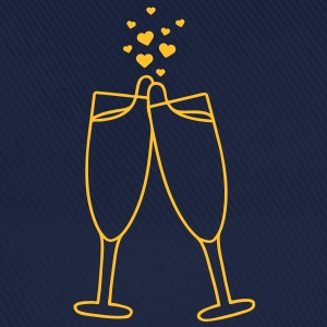 champagne_with_hearts T-shirts - Baseballkasket