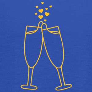 champagne_with_hearts T-shirts - Dame tanktop fra Bella