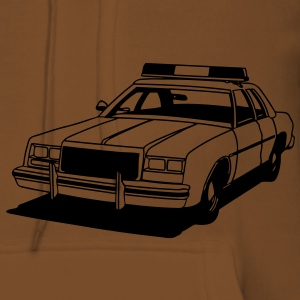 Police Car Retro T-Shirts - Women's Premium Hoodie