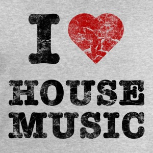 i_love_housemusic_vintage T-Shirts - Men's Sweatshirt by Stanley & Stella