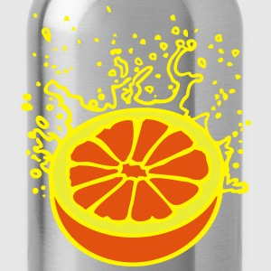 Saftig-spritzige Orange / juicy orange (3c) T-Shirts - Water Bottle