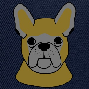 French Bulldog huvud T-shirts - Snapbackkeps