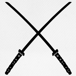 Katana Samurai Swords Crossed - Baseballkappe