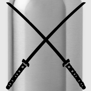Katana Samurai Swords Crossed - Trinkflasche