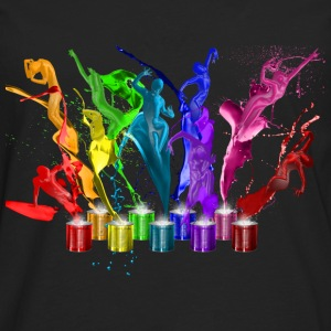 Dance of paints - 9 colors T-Shirts - Männer Premium Langarmshirt