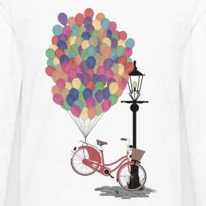 Blanc Love to Ride my Bike with Balloons Tee shirts - T-shirt manches longues Premium Homme