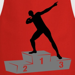 Usain Bolt podium  T-shirts - Keukenschort