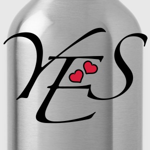 YES Love Hearts Herzen Liebe Verliebte JA Wort 2c T-Shirts - Water Bottle