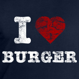 i love burger vintage light T-shirts - Mannen sweatshirt van Stanley & Stella