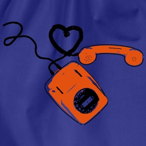 Retro Telefon T-Shirts - Turnbeutel