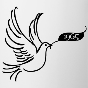 Dove of Peace med år 1965 T-shirts - Kop/krus