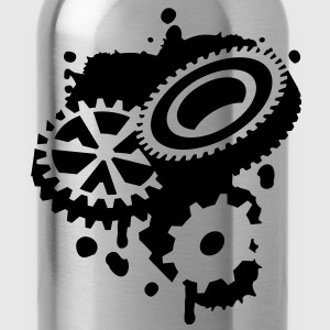 Three gears as a graffiti Shirts - Water Bottle