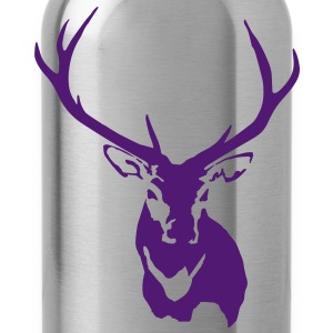 Stag Red Reindeer with Antlers - Water Bottle