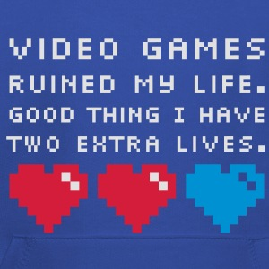 Video Games ruined my life T-Shirts - Kinder Premium Hoodie