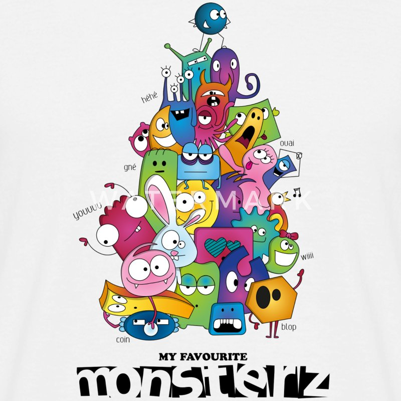 My favourite monsterz - T-shirt Homme