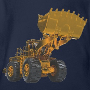 Old Mining Wheel Loader - Yellow Shirts - Organic Short-sleeved Baby Bodysuit