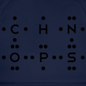 Ingredients of Life - CHNOPS (Monochrome) T-Shirts - Baseball Cap