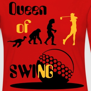 Evolution Queen of Women 's Golf Swing  T-skjorter - Premium langermet T-skjorte for kvinner