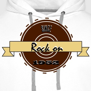 Rock on! Since 1952 3c rock´n roll  Camisetas - Sudadera con capucha premium para hombre