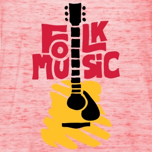folk_music_guitar T-Shirts - Women's Tank Top by Bella