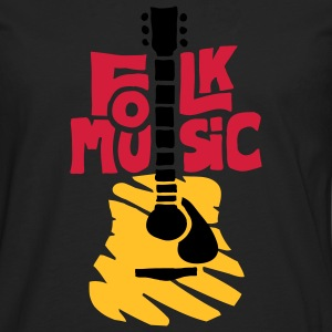 folk_music_guitar T-Shirts - Men's Premium Longsleeve Shirt