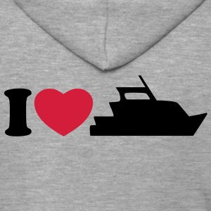 I love my yacht T-Shirts - Men's Premium Hooded Jacket