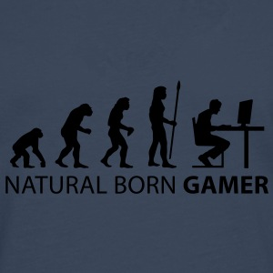 evolution natural born gamer Tee shirts - T-shirt manches longues Premium Homme