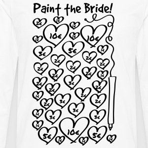 Paint to the bride - hen night T-Shirts - Men's Premium Longsleeve Shirt