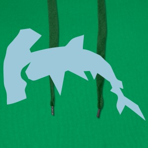 requin marteau cartoon design papier des Tee shirts - Sweat-shirt à capuche Premium pour hommes