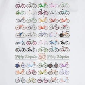 50 Bicycles T-Shirts - Drawstring Bag