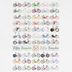 50 Bicycles T-Shirts - Baseball Cap