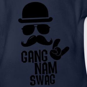Like a Gangnam swag style boss moustache t-shirts Shirts - Organic Short-sleeved Baby Bodysuit