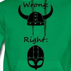 Wikinger - Wrong Right T-Shirts - Männer Premium Hoodie