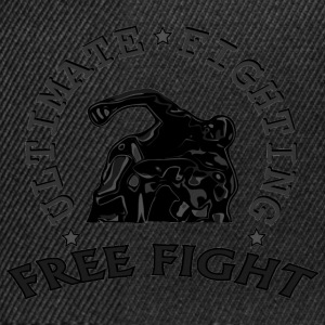 combattant au sol  free fight. Tee shirts - Casquette snapback
