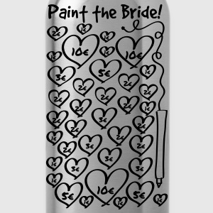 Paint the Bride - JGA T-Shirts - Trinkflasche
