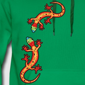 lézards multicolore Tee shirts - Sweat-shirt à capuche Premium pour hommes