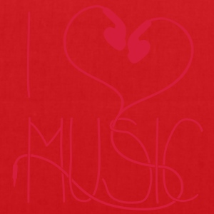 I heart Music Tee shirts - Tote Bag
