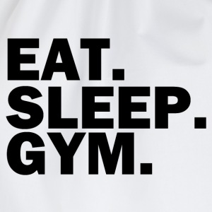 Eat sleep gym - Drawstring Bag