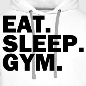 Eat sleep gym - Men's Premium Hoodie