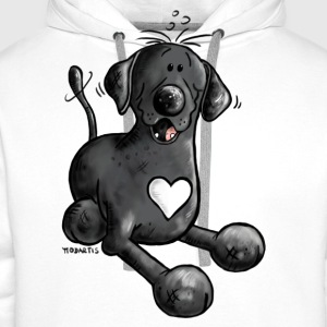 Labrador Retriever - dog - t-shirt design- cartoon T-Shirts - Men's Premium Hoodie