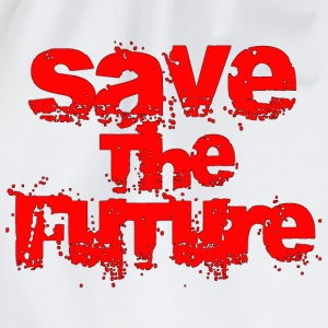 Save The Future - Red T-Shirts - Drawstring Bag
