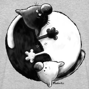 Black and White - Yin Yang – cats T-Shirts - Men's Sweatshirt by Stanley & Stella