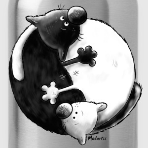 Black and White - Yin Yang - Gatti Magliette - Borraccia