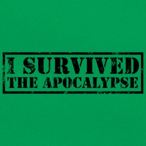 I survived the Apocalypse T-Shirt - Retro Tasche