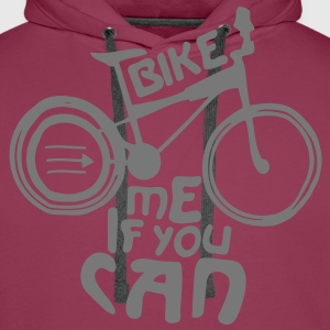 Bike me if you can Tee shirts - Sweat-shirt à capuche Premium pour hommes